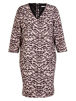 Plus Size Animal print spandex dress