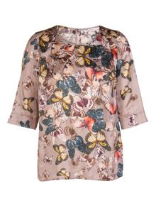 Xandres xline Vivid-coloured printed silk blouse