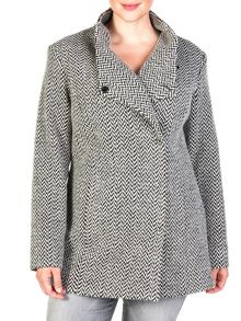 Xandres xline Herringbone short coat