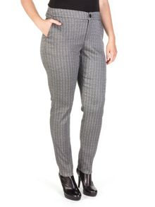 Shimmer jacquard pleated chino