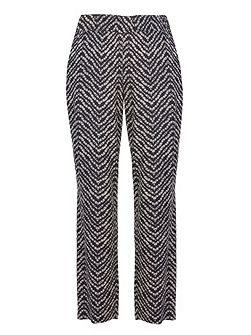 Pull-On Jacquard Trousers
