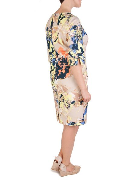 Xandres xline Multicolour Printed Dress