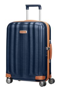 Samsonite Lite-cube dlx blue 4 wheel hard cabin suitcase