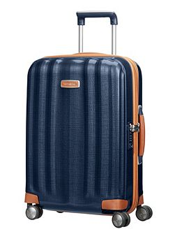 Lite-cube dlx blue 4 wheel hard cabin suitcase