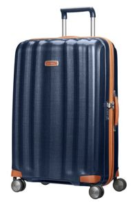 Samsonite Lite-cube dlx blue 4 wheel hard large suitcase