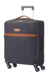 Samsonite Lite dlx blue 4 wheel 55cm cabin suitcase