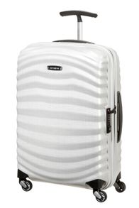 Samsonite Lite-Shock off white 4 wheel 55cm cabin suitcase