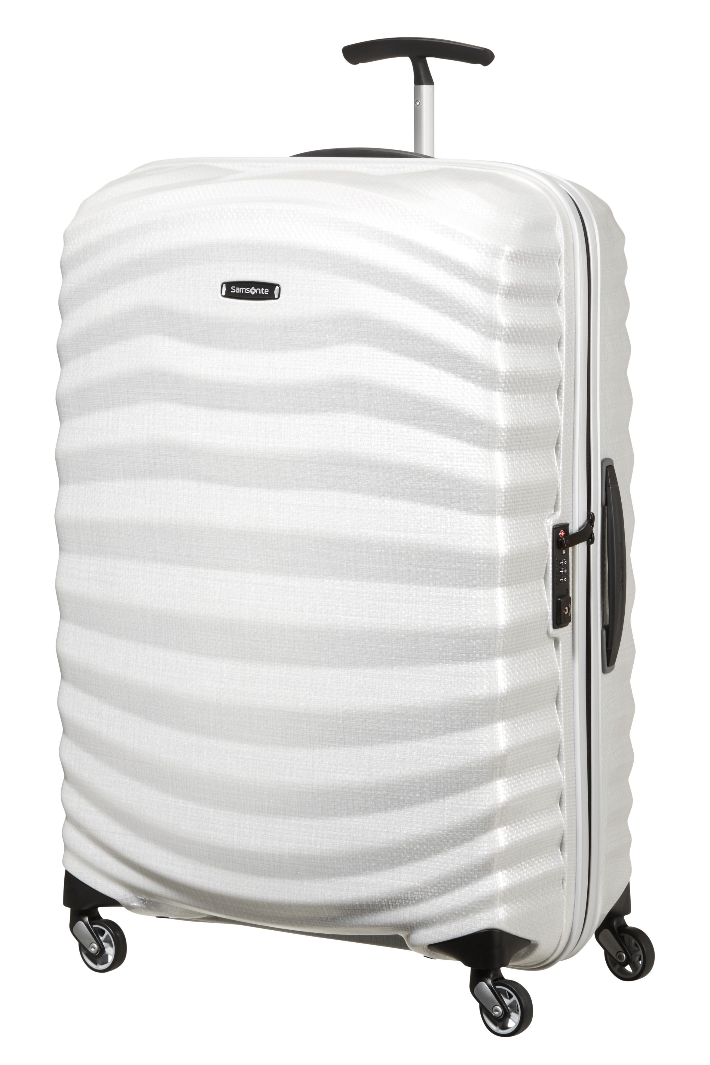 Samsonite LiteShock off white 4 wheel 75cm medium suitcase Off White