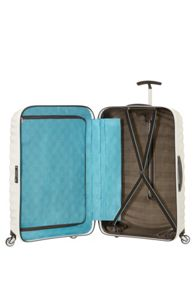 Samsonite Lite-Shock off white 4 wheel 75cm medium suitcase