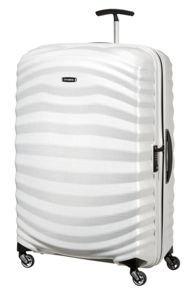 Samsonite Lite-Shock off white 4 wheel 81cm large suitcase