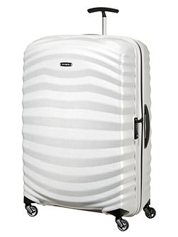 Lite-Shock off white 4 wheel 81cm large suitcase