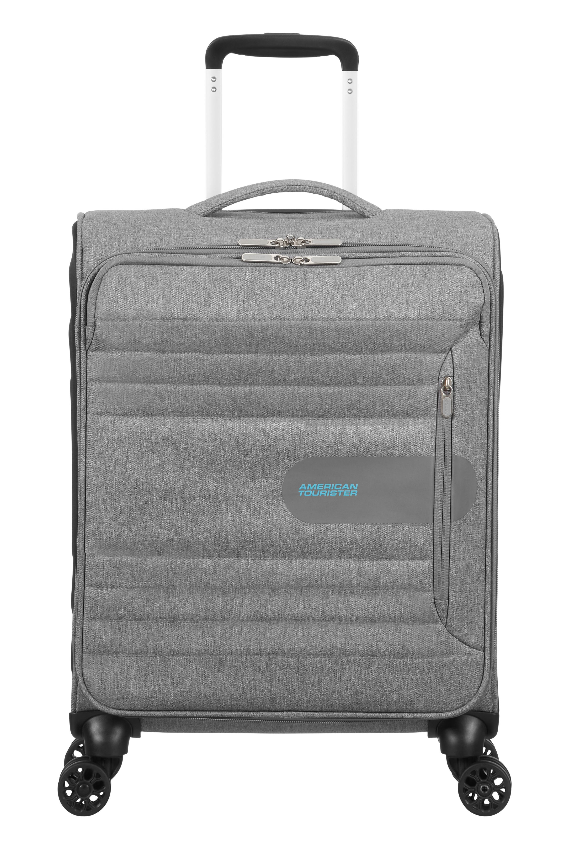 American Tourister Sonic Surfer Metal Grey Cabin Suitcase 55cm, Grey
