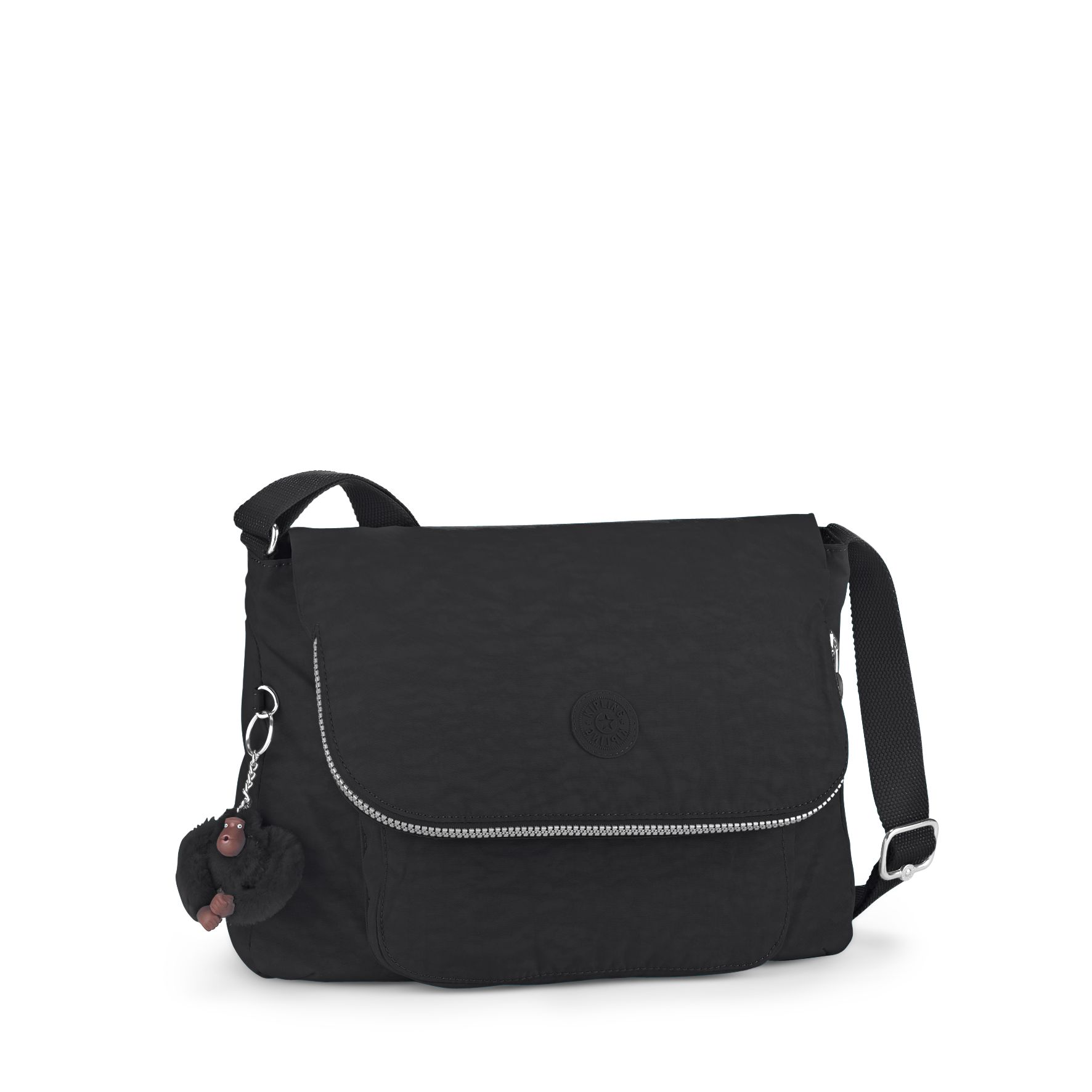 Kipling Garan medium shoulder bag, Black