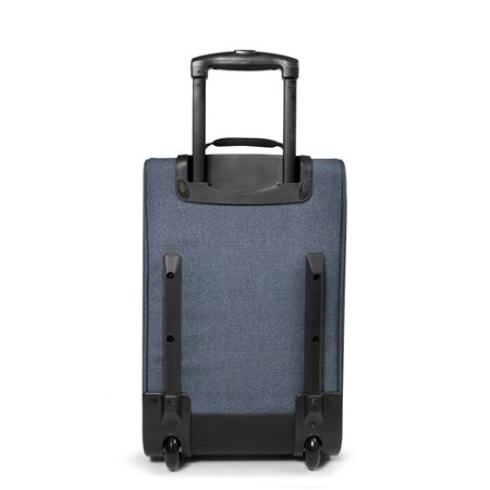 Eastpak Tranverz small double denim wheeled suitcase