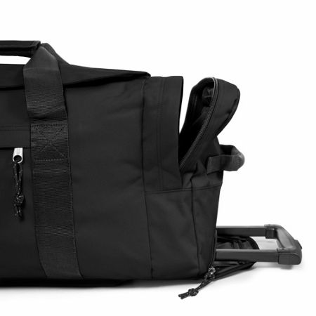 Eastpak Leatherface large black wheeled suitcase