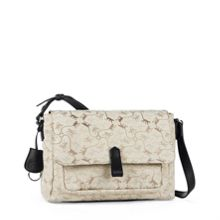 Maelisa monkey jacquard shoulder bag