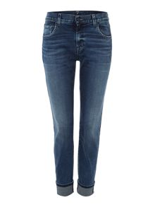 7 For All Mankind Relaxed skinny aged jean in denim mid blue