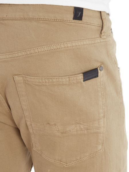 7 For All Mankind `Slimmy` Luxe Performance Khaki Stretch Jeans