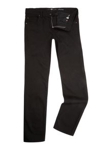 7 For All Mankind `Slimmy` Slim Fit Black Stretch Jeans