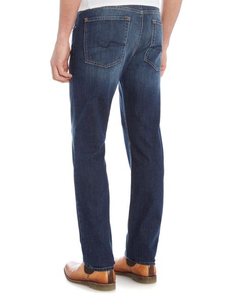 7 For All Mankind `Slimmy` NY Dark Slim Fit Stretch Jeans