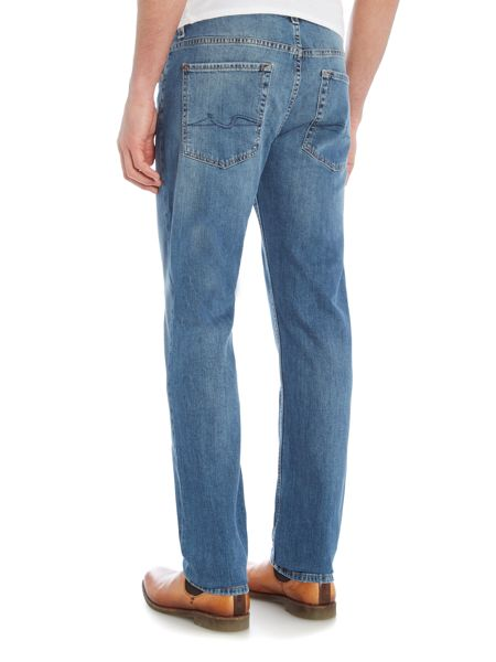7 For All Mankind `Slimmy` NY Medium Wash Slim Fit Stretch Jeans