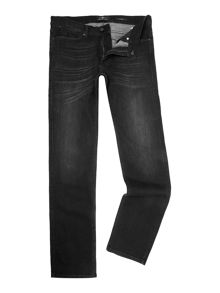 7 For All Mankind `Slimmy` Luxe Performance Black Stretch Jeans