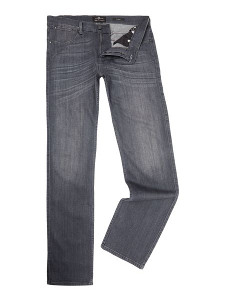 7 For All Mankind `Slimmy` Luxe Performance Grey Stretch Jeans