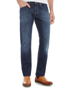7 For All Mankind The Straight `NY` Dark Wash Stretch Jeans