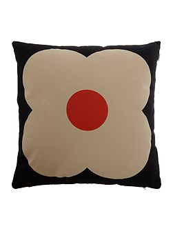 Slate Blue/Red Giant Abacus Printed Cushion