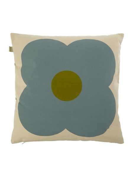 Orla Kiely Olive/Duck Egg Giant Abacus Printed Cushion
