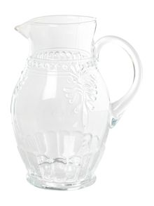 Pressed glass jug, clear