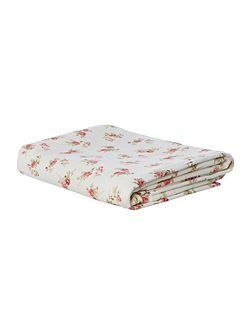 Scattered Rose Floral Velour Bath Towel
