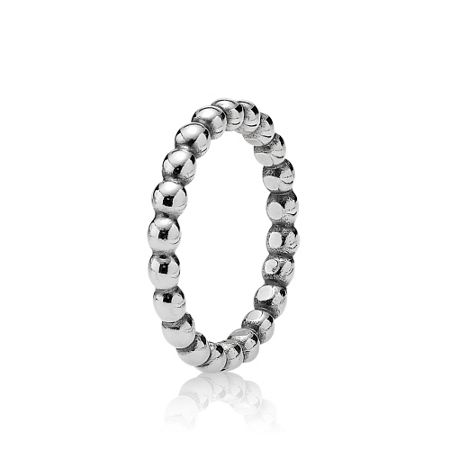 Pandora Sterling silver large bubble ring
