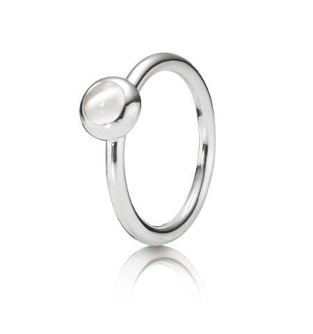 Pandora Sterling silver and moonstone ring
