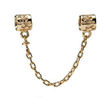 Pandora 14ct yellow gold safety chain