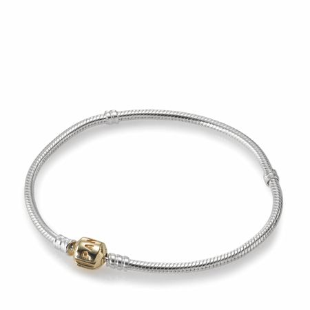 Pandora Sterling silver threaded bracelet