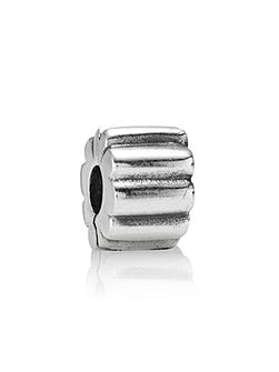 Sterling Silver Ribbed Clip