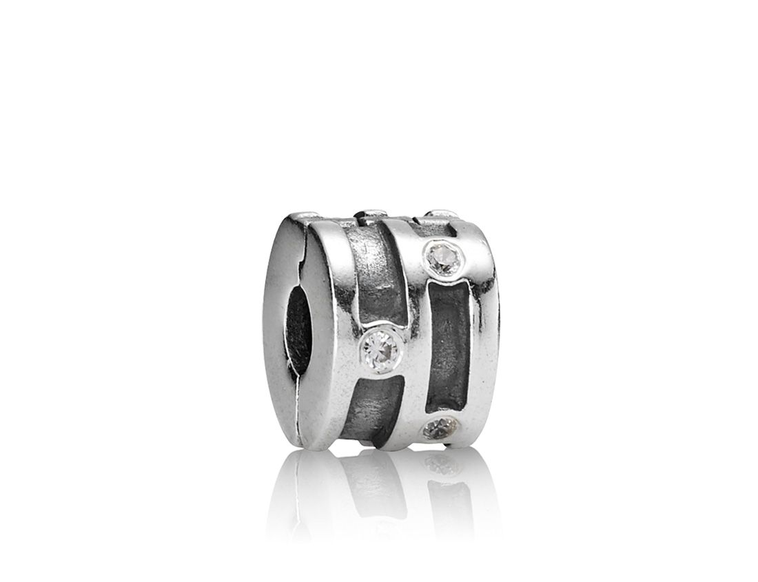 Pandora Sterling Silver and Cubic Zirconia Clip