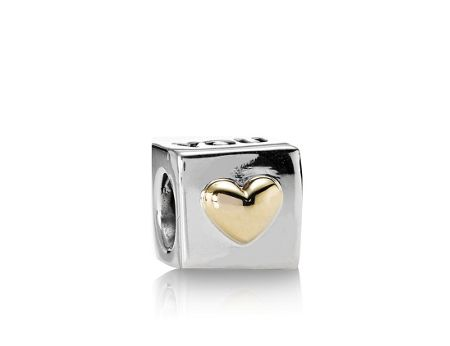 Pandora Sterling Silver and 14ct Gold I Love You Charm