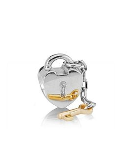 Sterling Silver and 14ct Gold Lock and Key
