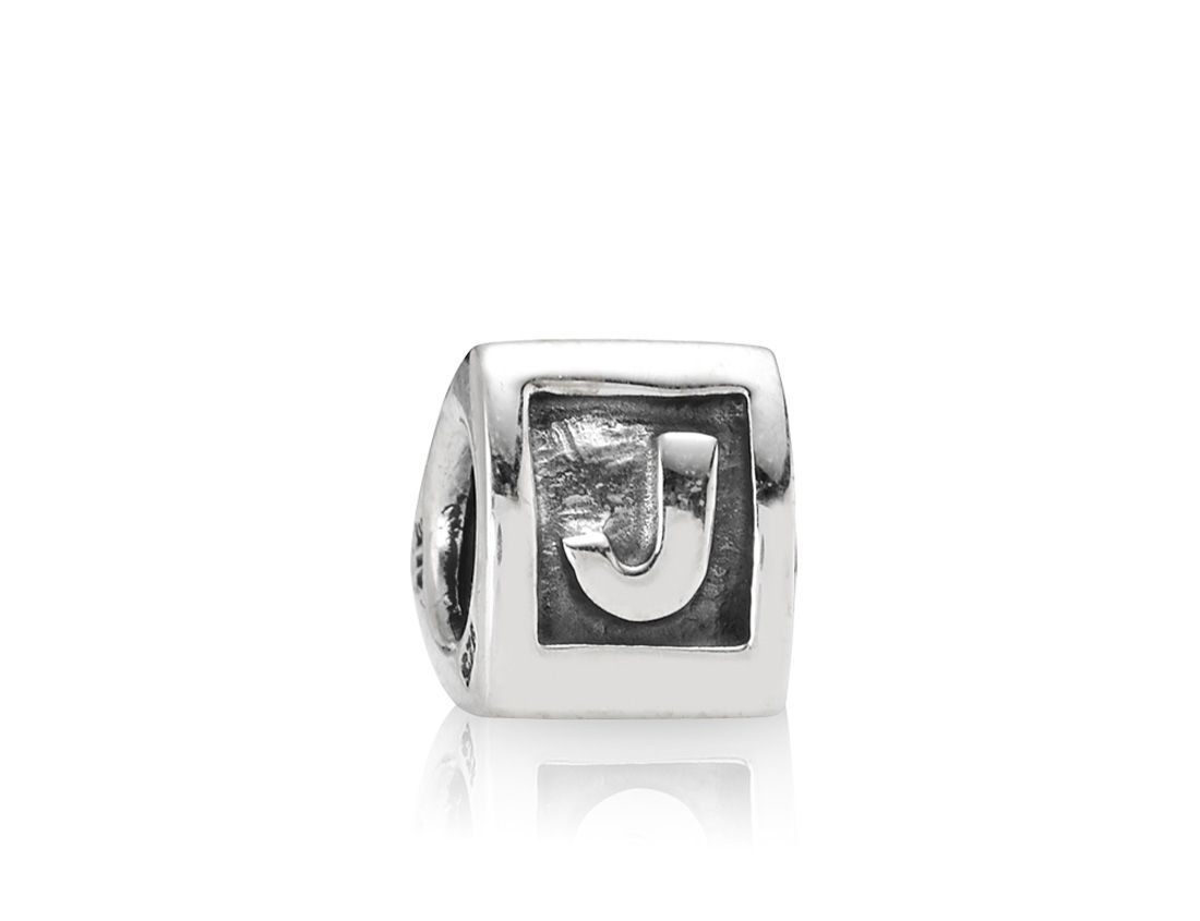 Pandora Sterling Silver Letter J Charm, Silver product image