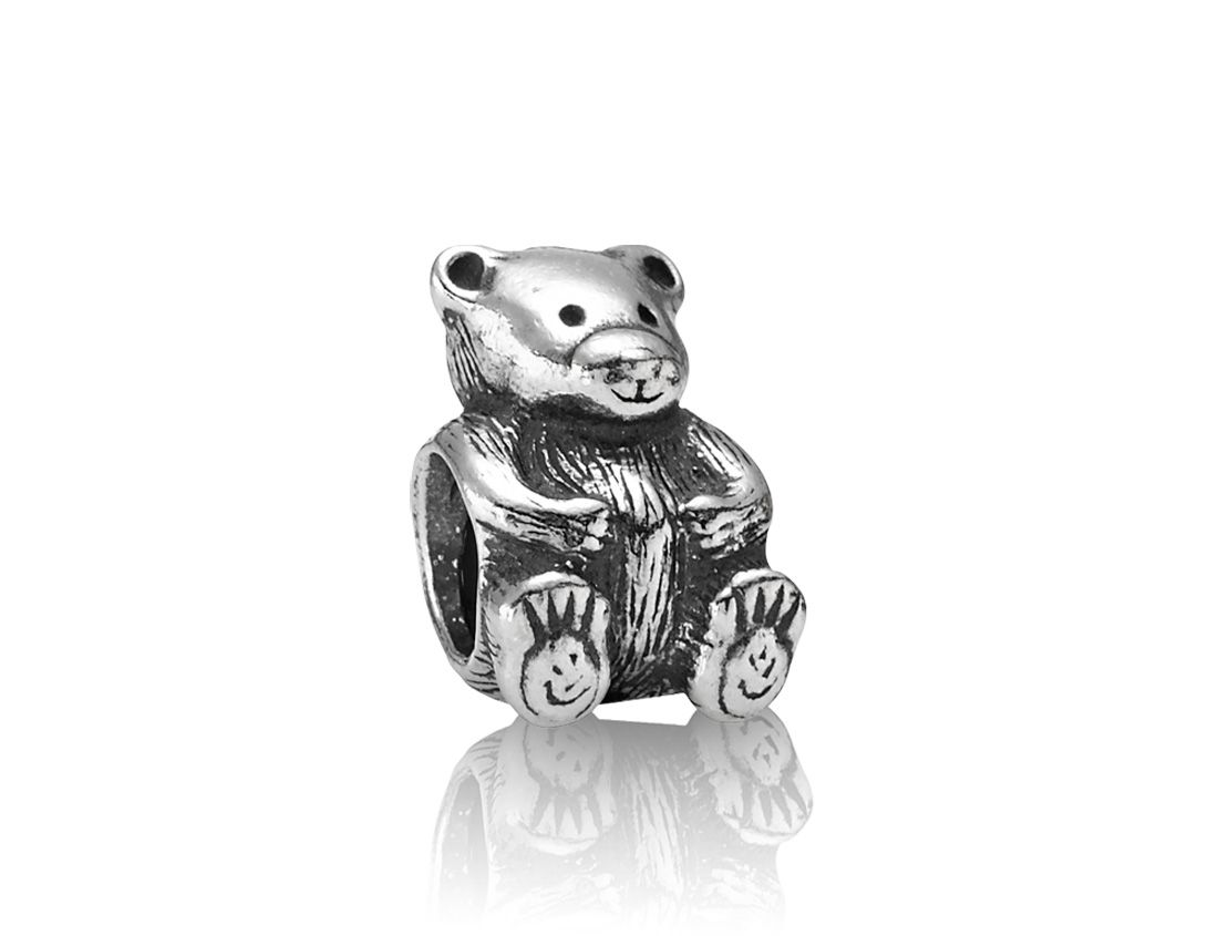 Sterling Silver Teddy Bear Charm 155322018