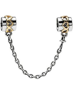 Sterling Silver 14ct Gold Safety Chain - 5cm