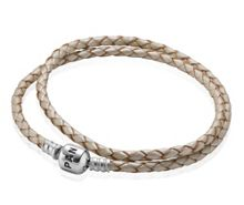 Pandora Pearl Double Leather 35cm Bracelet