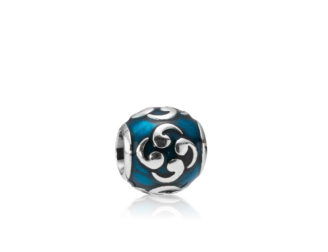 Sterling Silver and Turquoise Enamel Zen Charm
