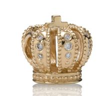 Pandora 14ct Gold and Diamond Royal Crown Charm