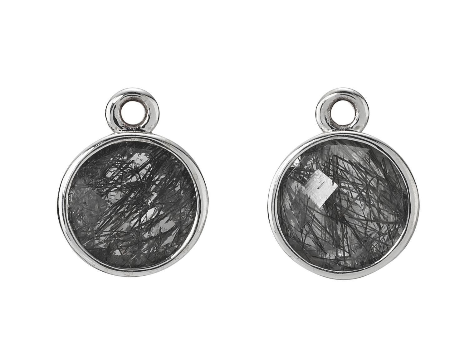 Sterling Silver and Black Quartz Earring Pendant