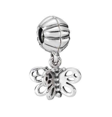 Pandora Sterling Silver Butterfly Dangle Charm