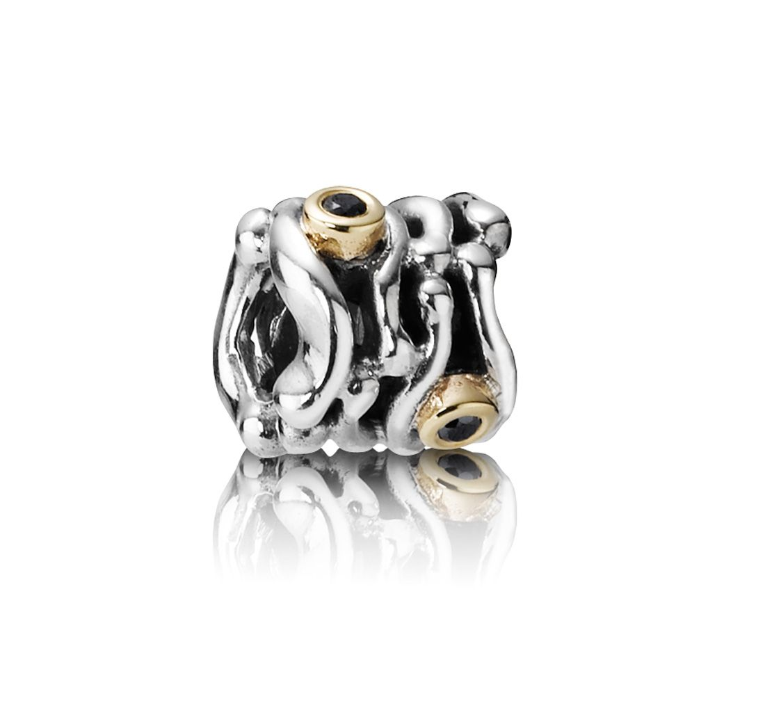 Womens Pandora Sterling Silver,14ct Gold