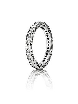 Clear zirconia eternity ring